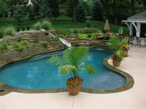 Backyard City Pools by Tropical Backyards With A Pool Home Decorating Ideas