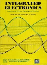 millman halkias integrated electronics analog and digital circuits and systems tmh integrated electronics analog and digital circuits and systems by jacob millman reviews