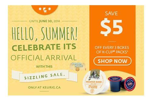 k cup coupons canada