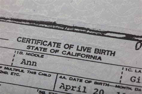 Vital Records California Birth Certificate Images Of Birth Certificates Business Cards And Resume