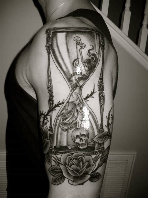 life and death tattoos designs 40 hourglass tattoos ideas