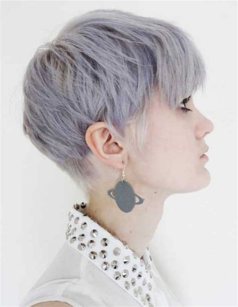 funky hairstyle for silver hair 20 chic pixie haircuts for short hair popular haircuts