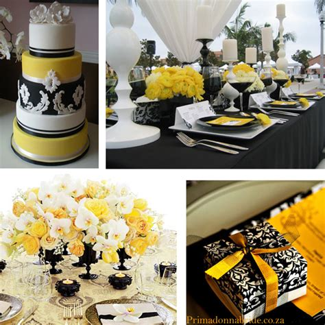 yellow black wedding theme  pinterest yellow black
