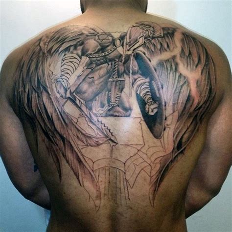 male angel tattoo designs collection of 25