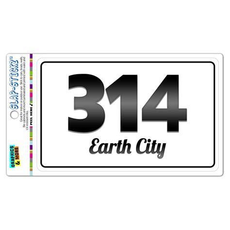 Area Code 314 Lookup Area Code B W Window Laminated Sticker 314 Missouri Mo Blackwell Louis Ebay