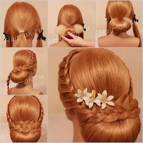 Hairstyles Accessories Bun Recipe by Diy Evening Braid Hairstyle