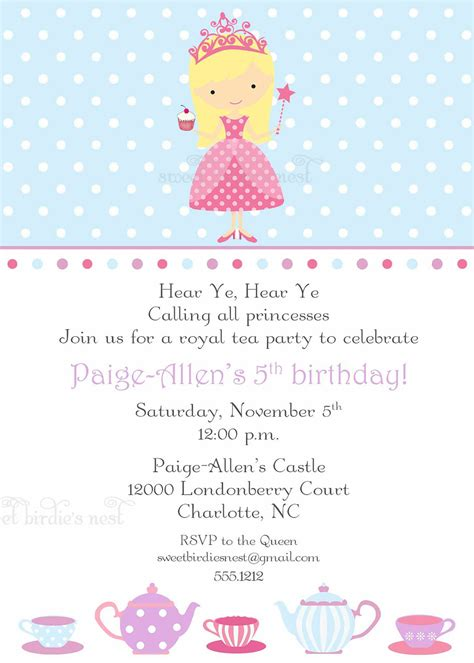 princess invitations theruntime