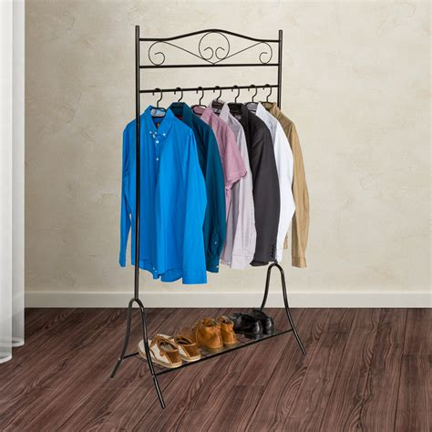 Metal Hanging Rack For Clothes by Vintage Clothes Rack Garment Hanging Rail Metal Storage