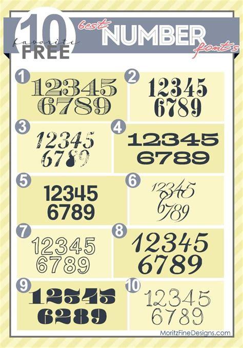font number best free number fonts