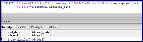 format date in postgresql sql why postgres show two different format for same