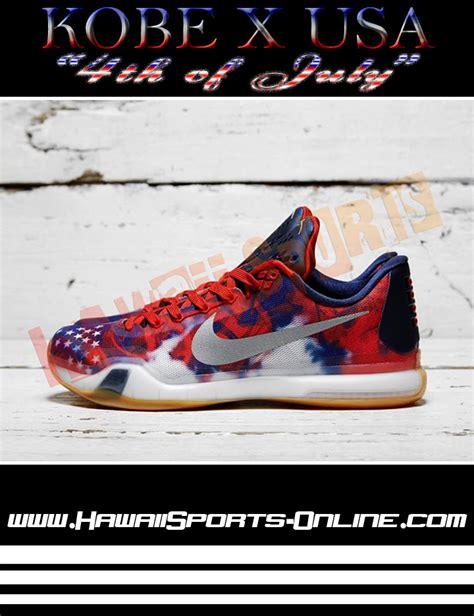Sepatu Basket Merk Nike toko olahraga hawaii sports sepatu basket original nike x quot 4th of july quot bryant