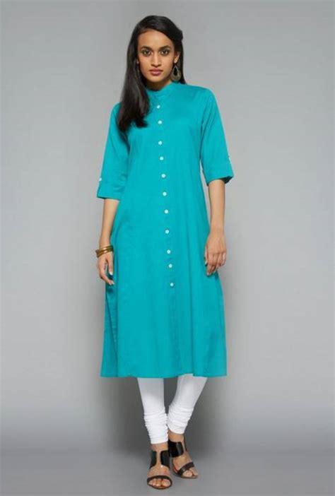Kurtis Pattern Name | buy blue plain cotton kurtis online