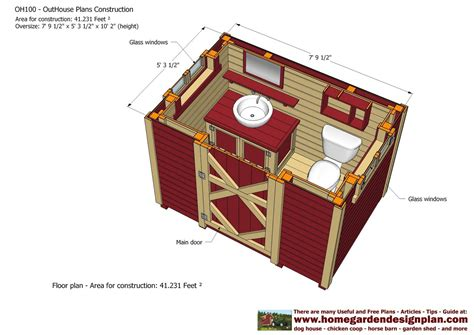 outhouse plans   house plans construction