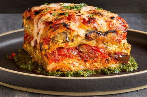 Grilled Vegetable And Tofu Quot Lasagna Quot With Pesto Recipe Garden Vegetable Lasagna