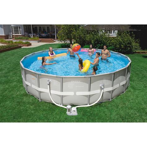 intex metal wall swimming pools walmart