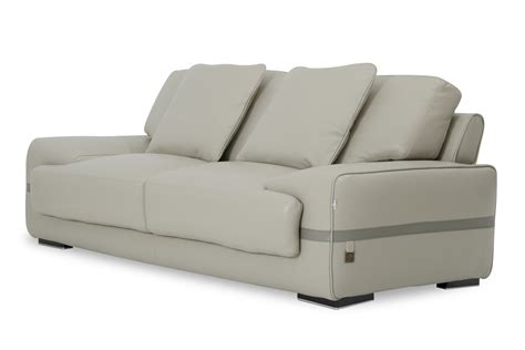 Grey Leather Sofa Modern Estro Salotti Evita Modern Grey Leather Sofa Set Estro Italian Seating Collections