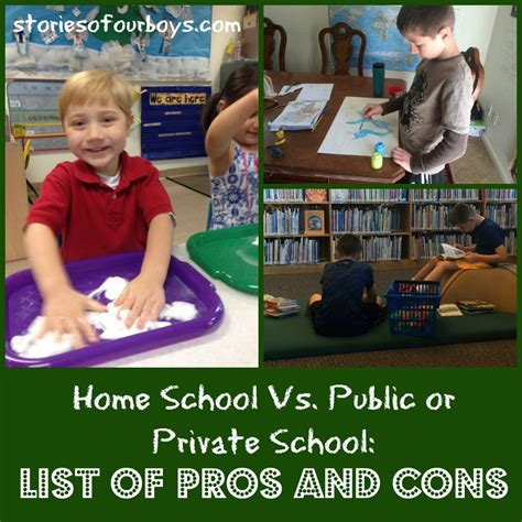 home school vs christian school vs school pros