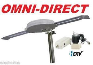 omni directional digital hd tv antenna hdtv uhf dtv indoor outdoor rv ota cer ebay