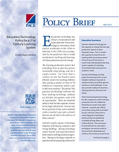 policy brief exle template policy briefs policy analysis for california education