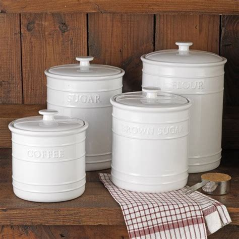 Canisters For Kitchen by White Embossed Kitchen Canister Set 4 Piece 99 95