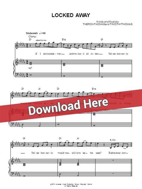 tutorial piano locked away adam levine locked away sheet music piano notes chords