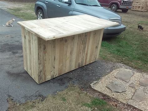 Kitchen Island Made From Pallets by Pallet Kitchen Island With Cabinets