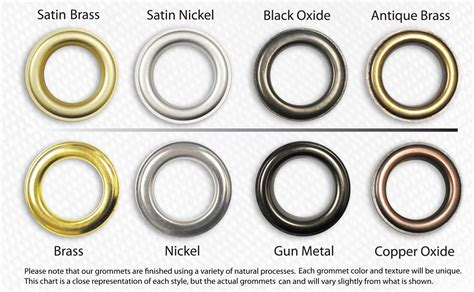 1 1 8 quot id 8 5 brass curtain grommets amp washers