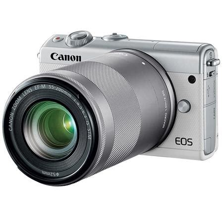 canon eos m100 camera with ef m 15 45mm & 55 200mm is stm