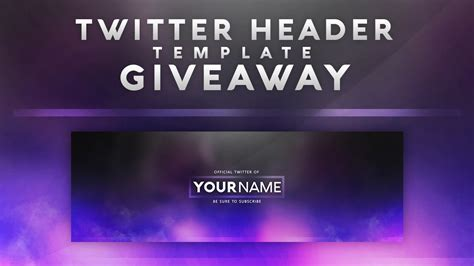free twitter header template give away youtube