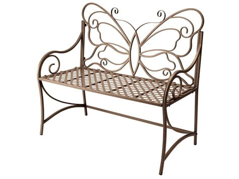 butterfly bench garden bench outdoor brown butterfly metal steel new ebay