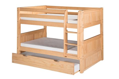 Low Bunk Beds by Camaflexi Low Bunk Bed With Trundle