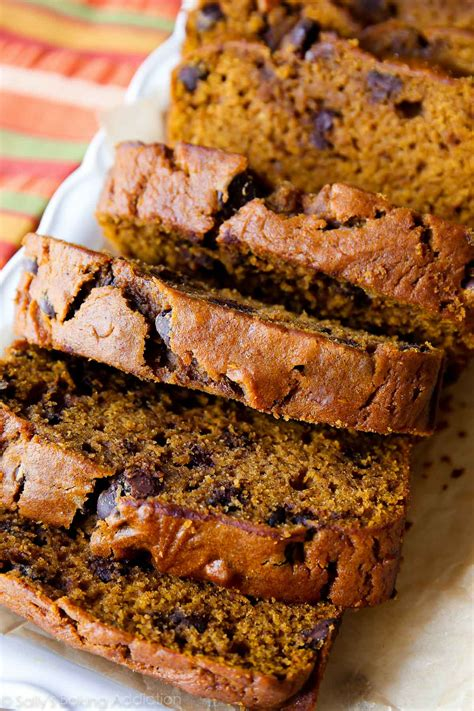 pumpkin chocolate chip bread sallys baking addiction