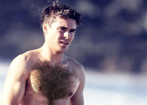 famous chest hair the celebrity report zac efron looks hot body on the