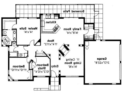 Mediterranean Style Floor Plans by Mediterranean House Plan Carrizo 11 010 Floor Plan Open