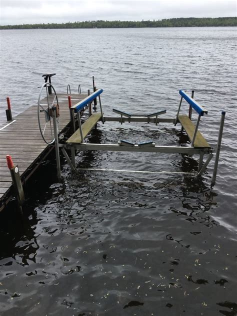 boat lift for rent outdoor pictures ma s shed cabin rental on lake vermilion