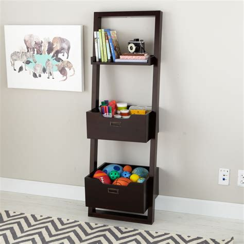 land of nod bookcase kids desk kids chocolate leaning wall bookcase the