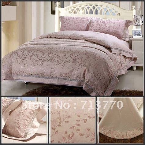 psd016 free shipping 4pc lavender luxurious king bedding
