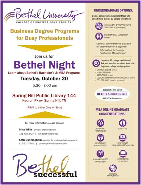Bethel Success Mba by Bethel Hill Library Bethel