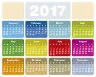 Zambia Kalendar 2018 Calendar Template 2016 2017 Stock Vector Image 59117083