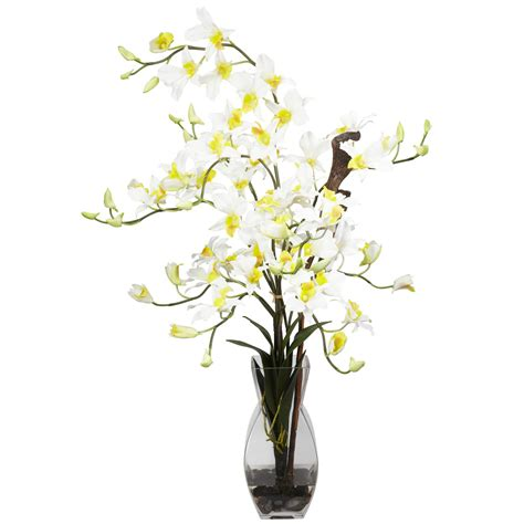 Orchid Arrangements In Vases by Silk Dendrobium Orchid Arrangement In Vase 1190