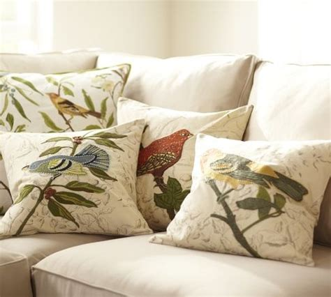 bird embroidered pillow covers inspiration images