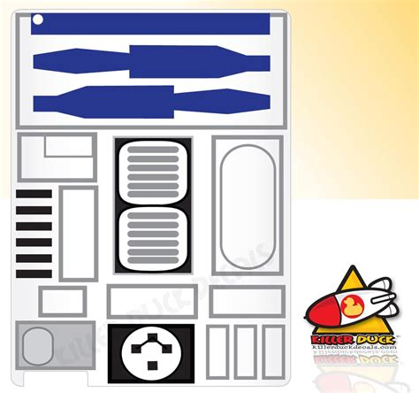 r2d2 printable template wars r2 d2 2 decal gadgetsin