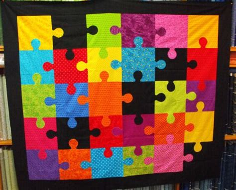 Jigsaw Puzzle Quilt Pattern by Jigsaw Quilt Kit Patchwork