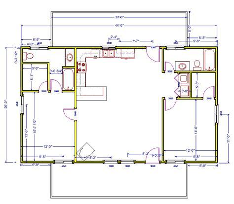 1040 Square Feet Log Cabin Plan Log Cabin House Plans Level 1