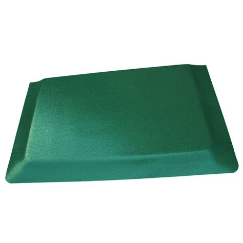 Kitchen Mat Vinyl Rhino Anti Fatigue Mats Hide Pebble Brushed Green Surface