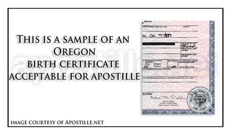 Oregon Marriage Records Free United States Birth Certificate Sle Choice Image Certificate Design And Template