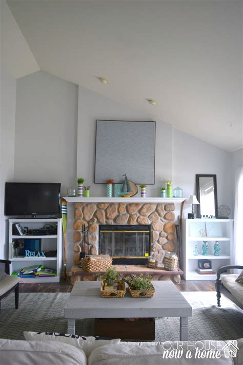 Living Room Ideas - how to create a fireplace wood feature wall a modern