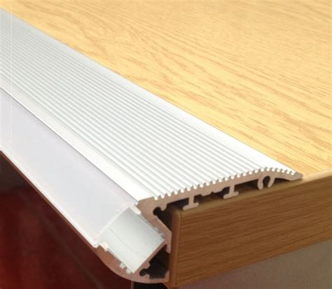 aluminium extrusions for led lighting stair nose light up aluminium led profile extrusion