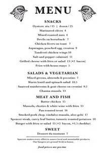 menu for brunch menus sparrow