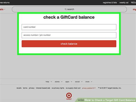 Check Target Gift Card Balance Online - how to check a target gift card balance 9 steps with pictures